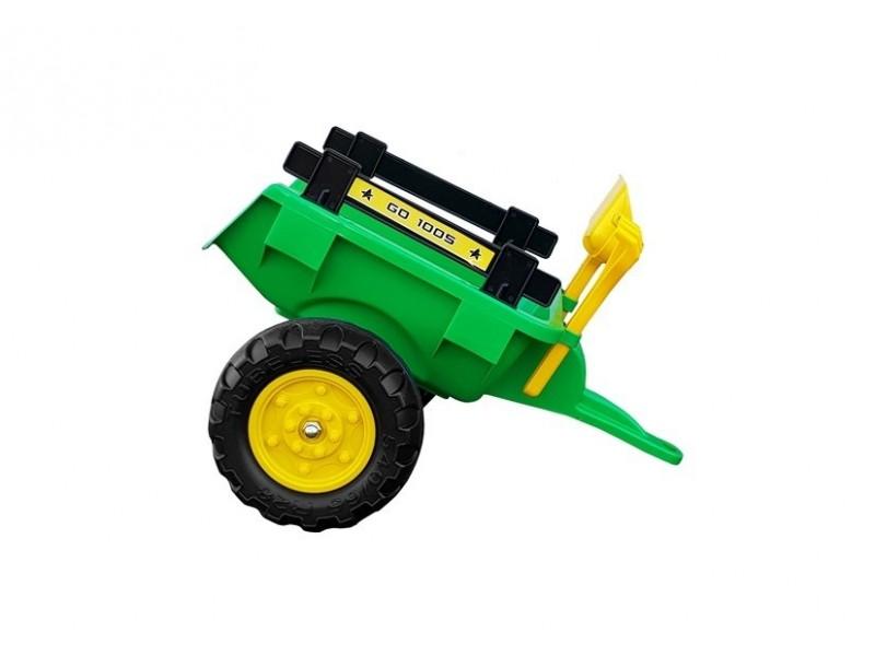 Traktor Branson z Przyczepą Zielony Pedały 135 cm