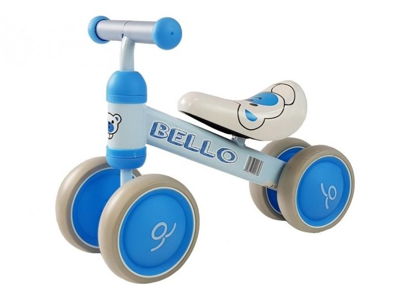 Rowerek Biegowy Bello Podwójne Kółka Niebieski