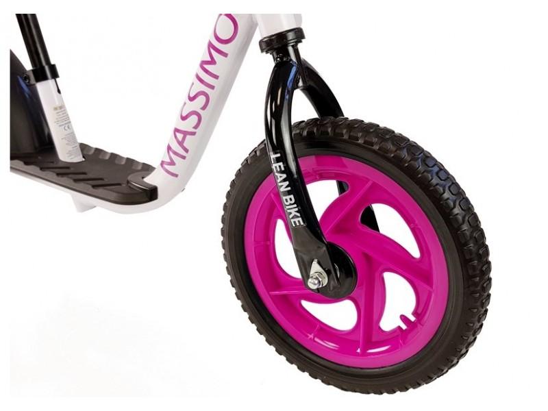 Rowerek Biegowy Massimo Biało-Różowy