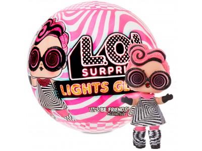 L.O.L. SURPRISE - Świecąca Laleczka w kuli LOL Lights Glitter MGA
