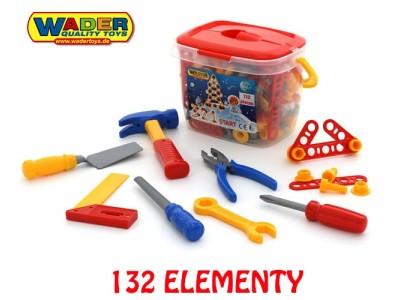 Zestaw narzędzi z akcesoriami Wader 132 elementów