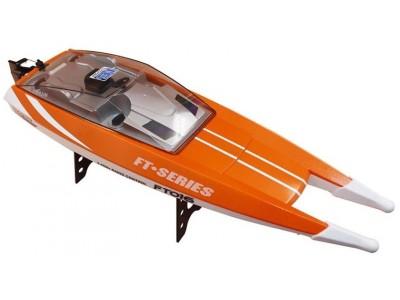 Motorówka FT016 2.4GHz RTR (długość 47cm, prędkość 30km/h, silnik klasy 540) - Pomarańczowa