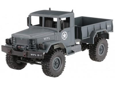 Ciężarówka wojskowa WPL B-14 (1:16, 4x4, 2.4G, LiPo) - Niebieski