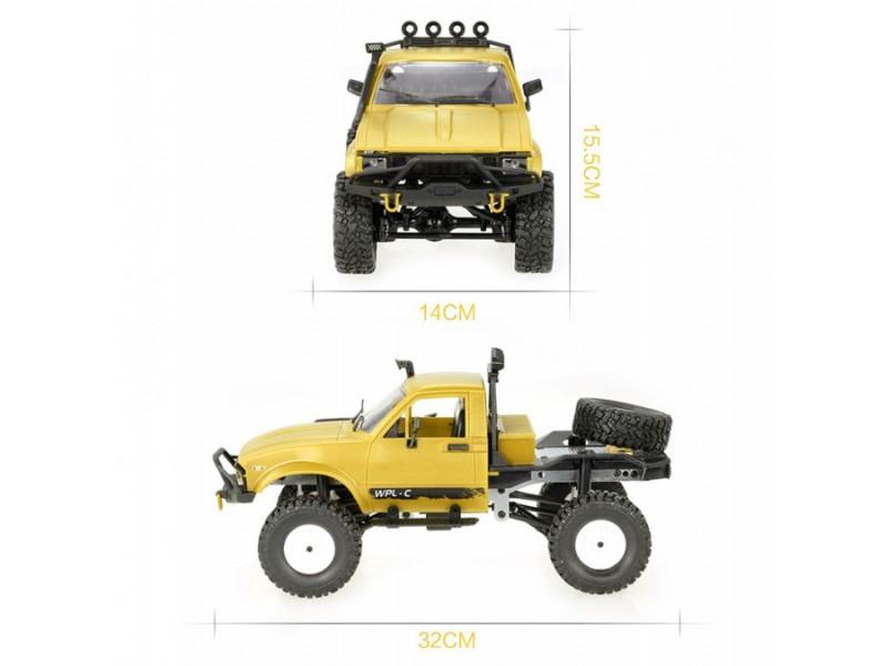 Samochód OFF-ROAD WPL C-14 (1:16, 4x4, 2.4G, LiPo) - Żółty