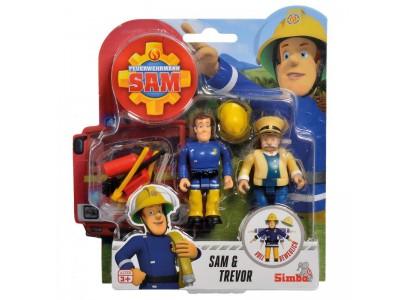 Simba - Strażak Sam 2 Figurki z akcesoriami Sam i Trevor