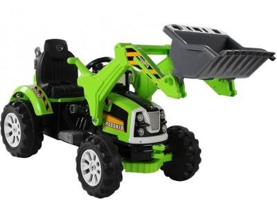 Traktor na akumulator z Łyżką Koparka Zielony
