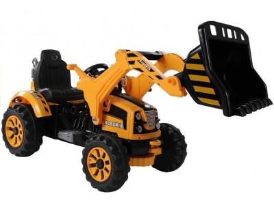 Traktor na akumulator z Łyżką Koparka Pomarańczowy