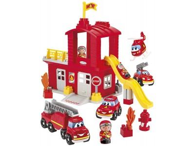 Ecoiffier Abrick Remiza strażacka z pojazdami