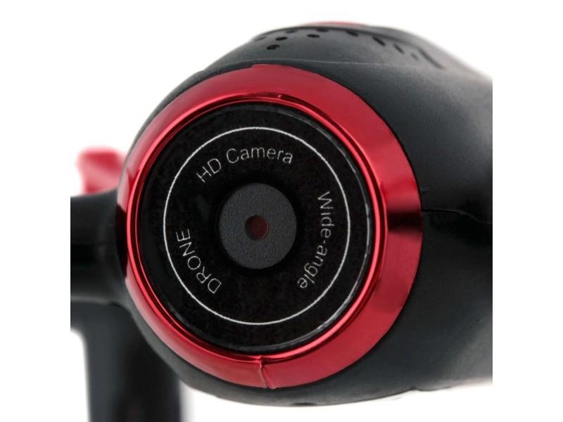 Syma X22SW (D350WH, kamera FPV WiFi, 2.4GHz, żyroskop, auto start, zawis, zasięg do 25m, 17.6cm) - Czerwony