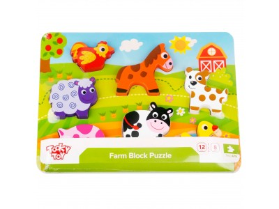 TOOKY TOY Grube Puzzle Farma