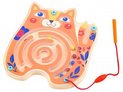 TOOKY TOY Tablica Zręcznościowa Labirynt Magnetyczny Kot