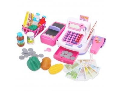 WOOPIE Kasa Sklepowa dla Dzieci Kalkulator Mikrofon Wyświetlacz LCD