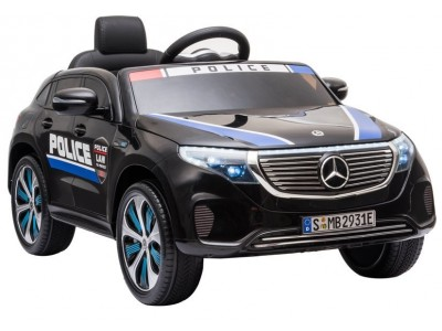 Auto na Akumulator Mercedes EQC 400 Policja Czarny