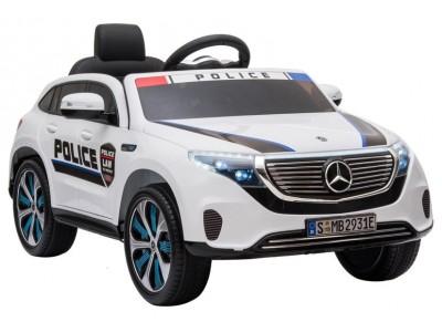 Auto na Akumulator Mercedes EQC 400 Policja Biały