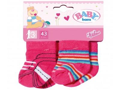 Baby Born Skarpetki dla lalki 43 cm 2 pary Różowe