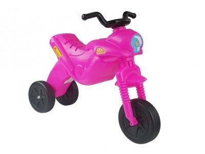 Motorek Biegowy Trójkołowy Enduro Jeździk Różowy 5046 47 cm Wysokości