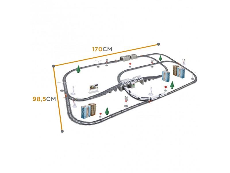 WOOPIE Kolejka Elektryczna Ogromny 914 cm Tor Most Tunel 86 el.