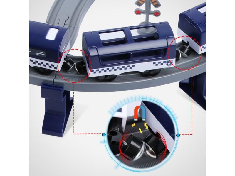 WOOPIE Kolejka  Elektryczna Tor samochodowy Komisariat Policji Helikopter Auta 92 el.