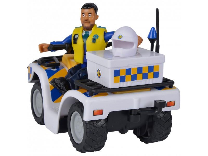SIMBA Strażak Sam Quad Policyjny z Figurką Malcolma