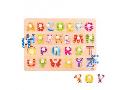 TOOKY TOY Puzzle Układanka z Pinezkami Alfabet
