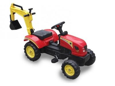 Traktor z  Łyżką czerwony Pedały