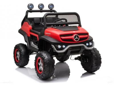 Pojazd na Akumulator Mercedes Unimog S Czerwony Lakier
