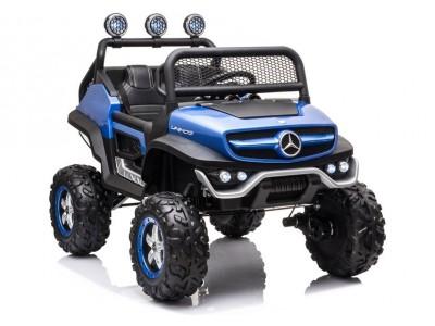 Pojazd na Akumulator Mercedes Unimog S Niebieski Lakier