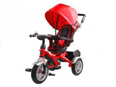 Rower Trójkołowy PRO500 Czerwony - CZARNA RAMA