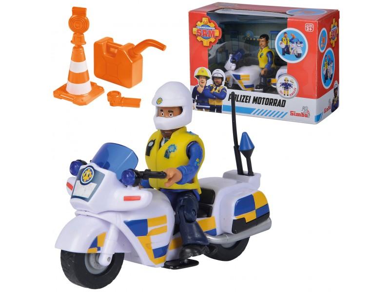 SIMBA Strażak Sam Motor Policyjny z Figurką Malcolma + Akc
