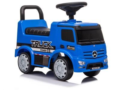 Jeździk Mercedes Antos 656 Niebieski  Dźwięk Klakson Reflektory Światła