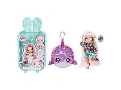 Na! Na! Na! Surprise Sparkle - Lalka Krysta Splash i Delfin w balonie z konfetti Seria Cekinowa Pom
