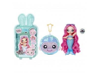 Na! Na! Na! Surprise Sparkle - Lalka Marina Jewels i Rybka w balonie z konfetti Seria Cekinowa Pom