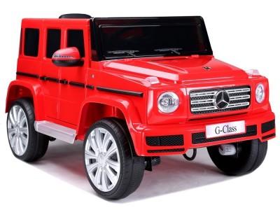 Samochód na akumulator Mercedes G500 czerwony