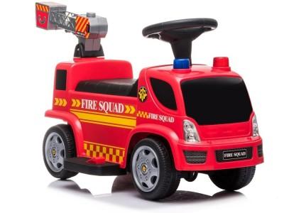 Pojazd Jeździk Straż Pożarna Drabina Bańki Mydlane Dźwięki  Na Akumulator