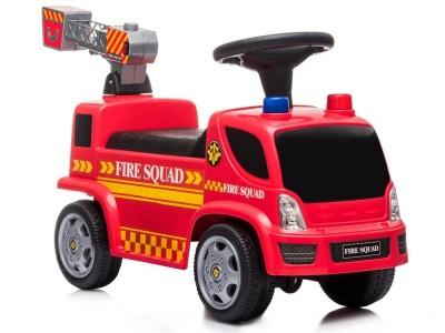 Pojazd Jeździk Straż Pożarna Drabina Bańki Mydlane Dźwięki Koguty