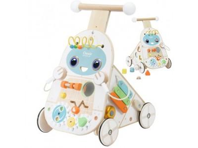 CLASSIC WORLD Chodzik Pchacz 4w1 Robot Walker dla Dzieci Ksylofon Lustro Sorter