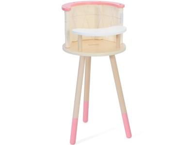 CLASSIC WORLD Drewniane Krzesełko Siedzisko do Karmienia dla Lalek Pluszaków