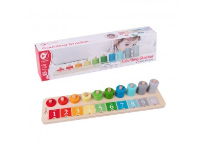 CLASSIC WORLD Układanka Klocki Nauka Liczenia i Kolorów dla Dzieci 66 el.