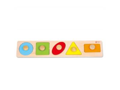 CLASSIC WORLD Układanka dla Dzieci Nauka Kształtów Figur Kolorów 7 el.