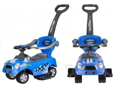 Jeździk Pchacz z Prowadnicą Coupe Niebieski