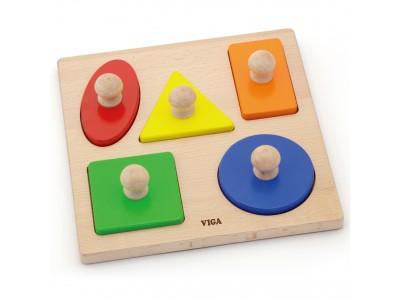 Viga Drewniane Puzzle z Pinezkami Kształty