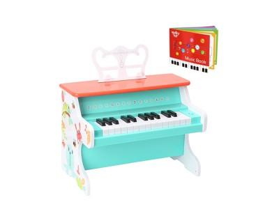 TOOKY TOY Drewniane Pianino Muzyczne dla Dzieci Nauka Gry + Książeczka