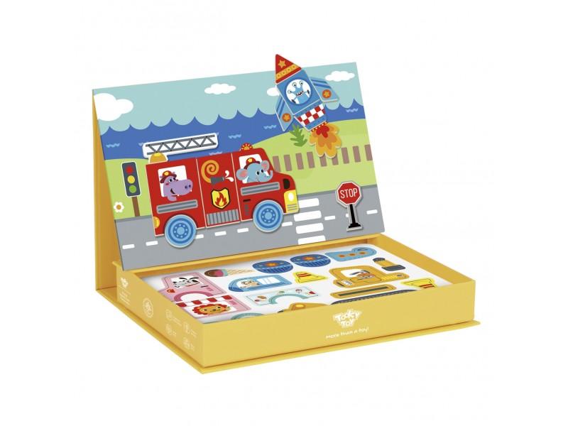 TOOKY TOY Układanka Edukacyjna Magnetyczne Pudełko dla Dzieci 80 el.