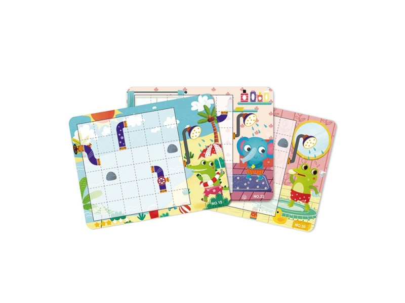 TOOKY TOY Gra Logiczna Tablica Magnetyczna Układanka Puzzle dla Dzieci 40 el.