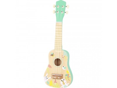 TOOKY TOY Drewniane Ukulele Gitara dla Dzieci 3+