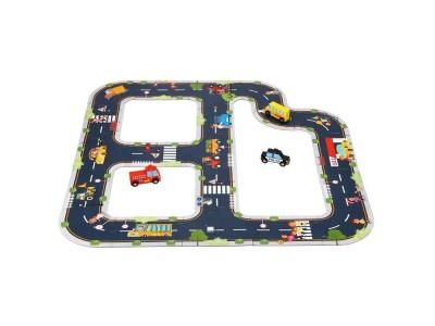 TOOKY TOY Puzzle Autostrada Makieta + 3 Samochodziki